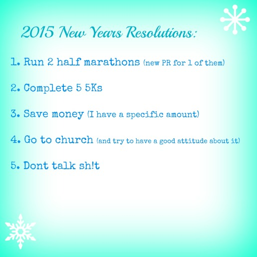 2015 NY Resolutions