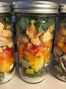 Mason Jar Chicken Salads