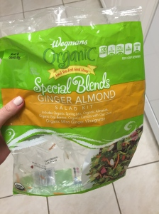 ginger almond salad in a bag