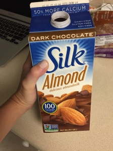 dark chocolate almond milk