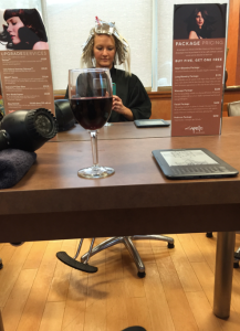 hair stylist wine