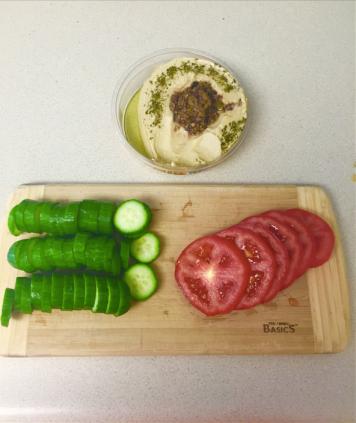 cucumbers hummus