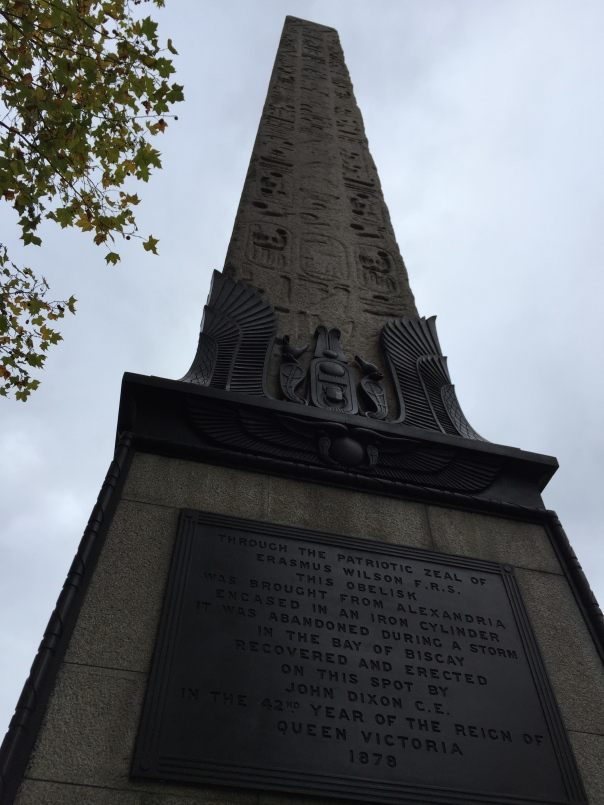 London Egyptian obelisk
