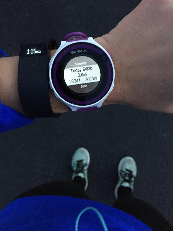 3 mile run garmin fitbit