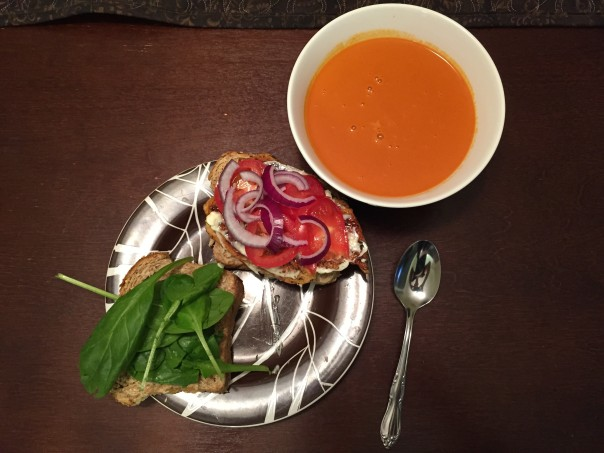 chicken sandwich tomato soup